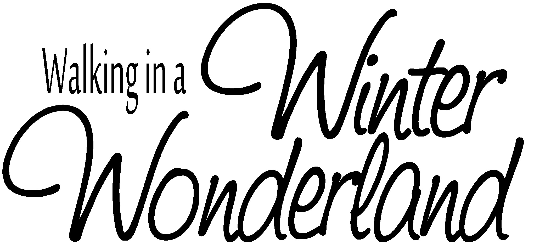 Winter Wonderland Clip Art Borders Sign black and white borders : free ...