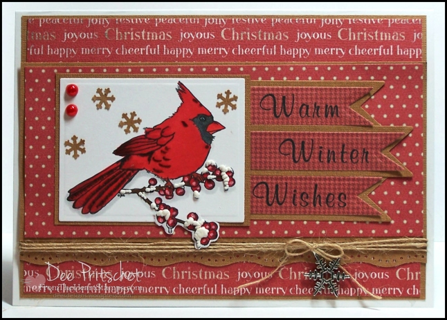 Cardinal and Winterberry